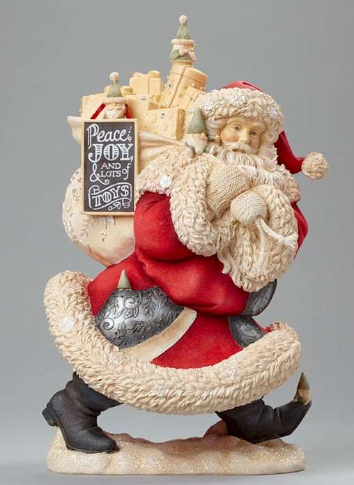 Heart of Christmas Santas by Karen Hahn for Enesco at Fiddlesticks